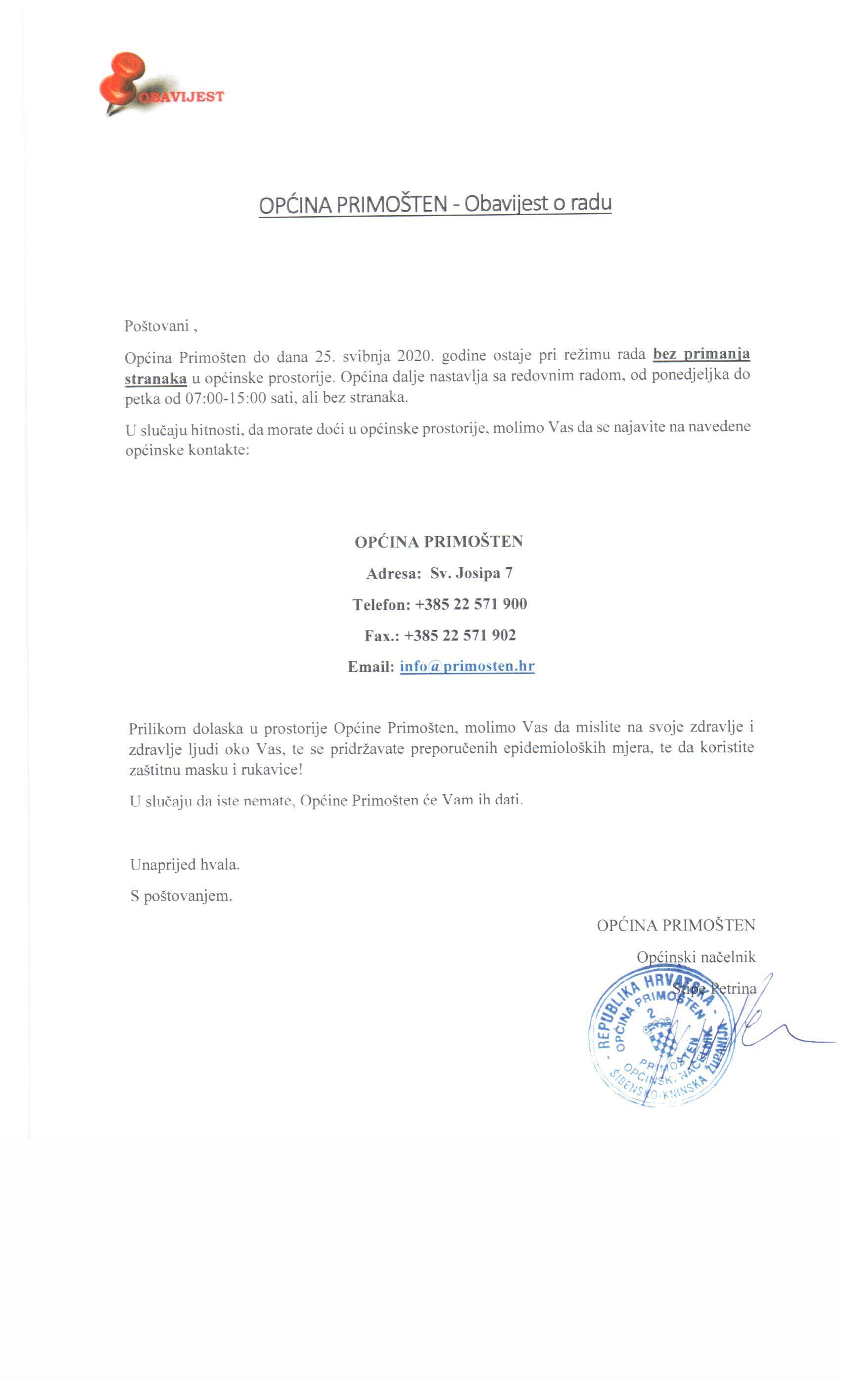 obavijest_o_radu